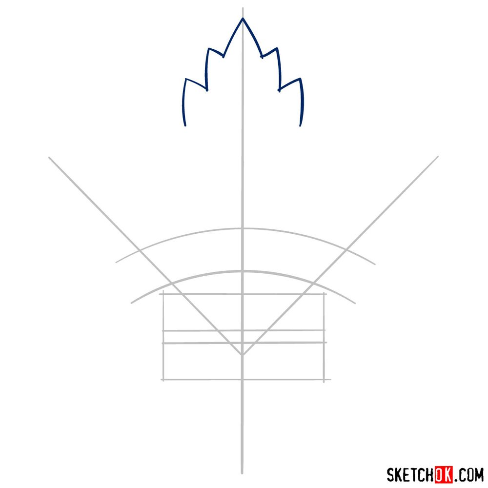 How to draw The Toronto Maple Leafs logo - step 03