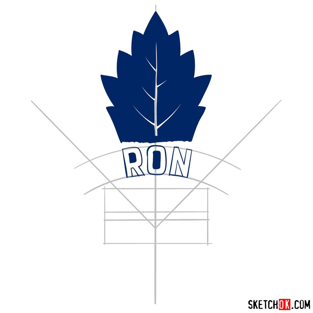 How to draw The Toronto Maple Leafs logo - step 06