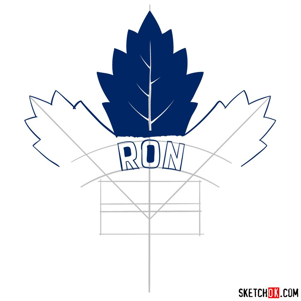How to draw The Toronto Maple Leafs logo - step 07