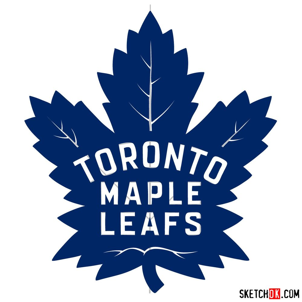 How to draw The Toronto Maple Leafs logo - step 18