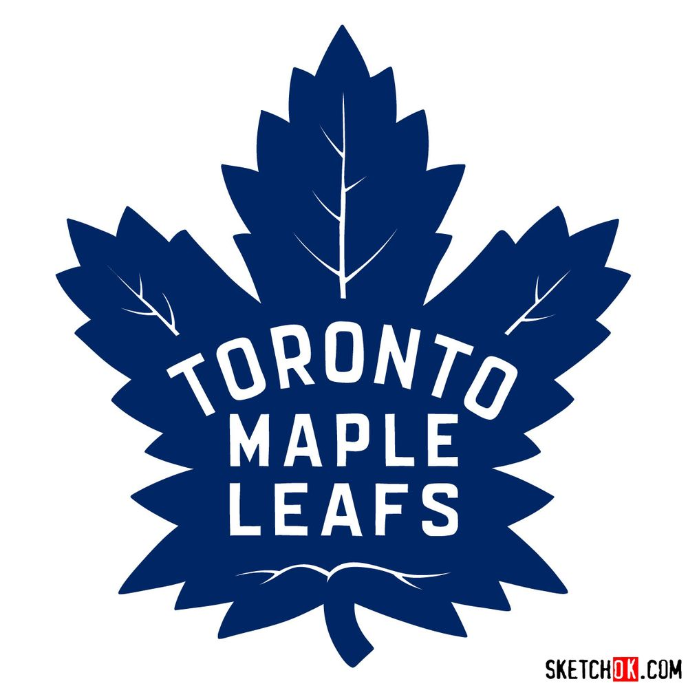 How to draw The Toronto Maple Leafs logo