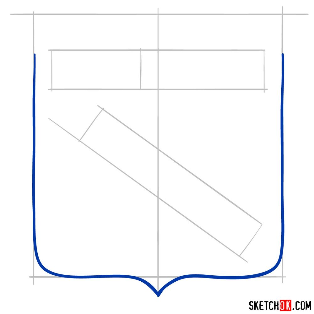 How to draw The New York Rangers logo - step 03
