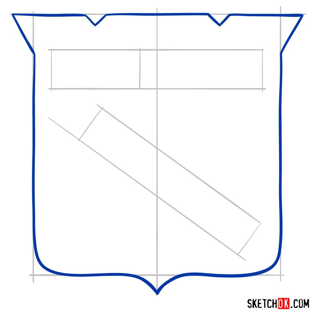 How to draw The New York Rangers logo - step 04